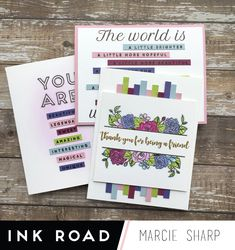 Colourful cards are my THING. I can find colour inspiration in all kinds of places. I used Days_e Phrases and a pre-made palette to create three cards. Deco Foil, Purple Cards, Find Color, Soft Purple, Design Seeds, Colour Inspiration, Saturated Color, Copic Markers, Color Card