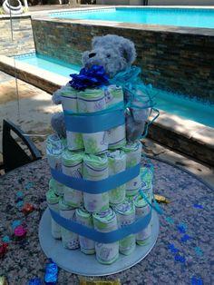 Diaper Cake with Teddy Bear Teddy Bear, Children, Cake, Crafts, Young Children, Boys, Manualidades, Kids, Kuchen