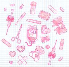 Sickly Sweet Stickers by King-Lulu-Deer on DeviantArt Pastel Goth Art, Pastel Decor, Kawaii Stickers, Cute Stickers, Kawaii Drawings, Cute Drawings, Animes Wallpapers, Cute Wallpapers, 8bit Art