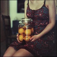 Girl with lemons by MichaelMagin.deviantart.com on @deviantART