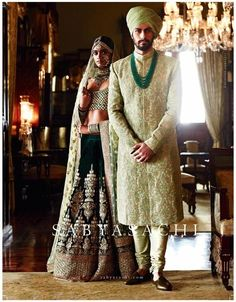 Wedding Combination – Matching Bride lehenga & Groom Sherwani