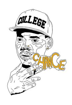Chance The Rapper Acid Rap Art Poster