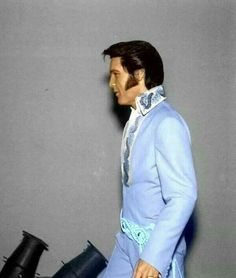 """Elvis making """"the walk"""" to perform at the Houston Astrodome 1970."""