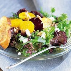 Beet #Salad with Chèvre and Walnuts