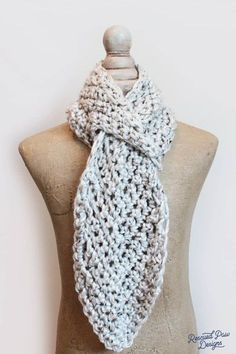 Pull Through Adjustable Scarf - Free Crochet Pattern from Rescued Paw Designs