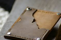 Idaho Leather Wallet Leather Wallet Mens Wallet by simpleflychic