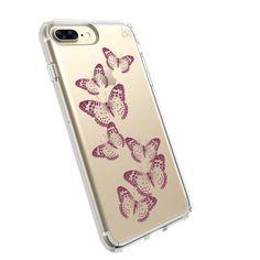 PRESIDIO CLEAR + PRINT IPHONE 7 PLUS CASE- BRILLIANT BUTTERFLIES ROSE GOLD/CLEAR