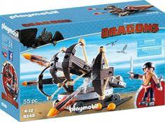 Playmobil Dragons Eret et baliste à 4 projectile - Castello | Jeux et Jouets
