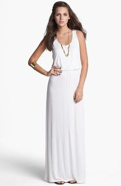 Socialite Knit Racerback Maxi Dress (Juniors) (Online Only) available at #Nordstrom