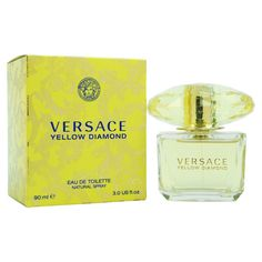 Versace ($52) ❤ liked on Polyvore featuring beauty products, fragrance, women's fragrance, yellow, floral perfumes, versace, versace fragrance, flower perfume y versace perfume