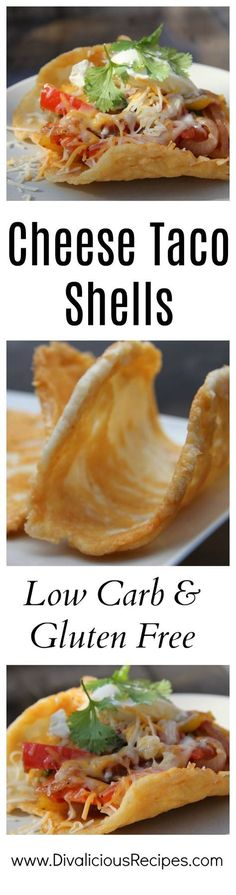 Taco shells made entirely out of cheese.   Low carb & gluten free tacos are an easy dish to make.