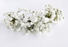 Baby's Breath Hair Vine Rustic Head Piece Dried by HandyCraftTS