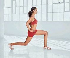 Lunge walking great for toning thighs and bums