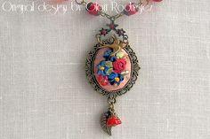 Gargantilla Hasta la eternidad- bouquet bordado