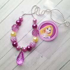 Items similar to 8 Princess Rapunzel Necklace Party Favors Rapunzel Birthday Party Activity Rapunzel Necklace Tangled Party Favor Tangled Birthday Party on Etsy Little Girl Jewelry, Kids Jewelry, Jewelry Party, Jewelry Making, Rapunzel Birthday Party, Tangled Party, Tinkerbell Party, Princess Birthday, Beaded Jewelry
