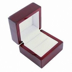 Luxury Natural wood double ring presentation box