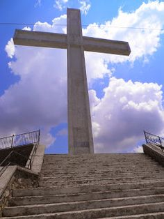 Kryqi ne majen e malit Morave! The holy cross on top of Morava mountain, Korce, Albania.
