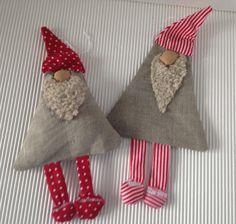 Weihnachtswichtel 2er Set rot/beige von einfachschön! auf DaWanda.com