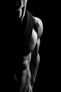 man. male. shadowed. nude. beauty. black & white.