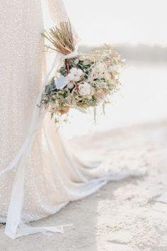 Seaside/Ocean/Beach Neutral Wedding Bouquet