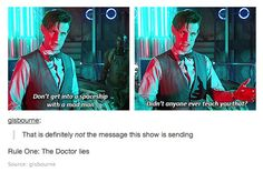 Doctor Who: making it ok to get into vehicles with strange men.