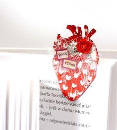 bookmark by Dorotka    TES-003 heart in love: negativ - zakochane serce: negatyw