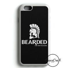 Moustache Bearded For Her Pleasure Sweatshirt Trojan Condom Parody Joke Geek Hipster iPhone 6/6S Case | casescraft