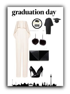 """Graduation day b&w"" by maustyle ❤ liked on Polyvore featuring Solace, Dolce&Gabbana, UN United Nude and graduationdaydress"