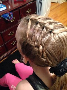 Little Girl Hairstyles Gym Hairstyles, Baby Girl Hairstyles, Princess Hairstyles, Pretty Hairstyles, Braided Hairstyles, Gymnastics Hairstyles, Natural Hairstyles, Teenage Hairstyles, Hairstyles Videos