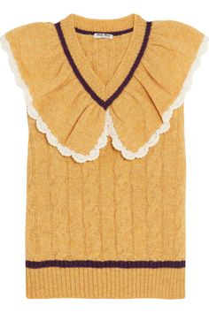 Mustard, burgundy and white wool Slips on 100% wool Dry clean Designer color: Mimosa Made in Italy