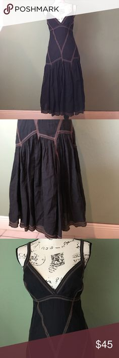 Armani exchange boho dress Brown bohemian inspired dress size 6. It has 3 very small bleach staying pictured, barely noticeable since the bottom is flowy but please consider that before purchasing A/X Armani Exchange Dresses