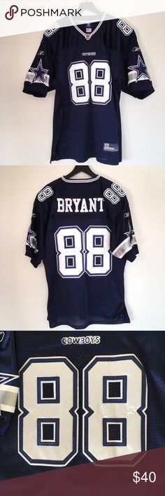 af19e1291 Dallas Cowboys Dez Bryant Official NFL Jersey Own a Dez Bryant Official  Equipment NFL Jersey. No iron-on decals here. Only embroidered patches.