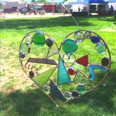 K&J Designs. Stained glass heart!