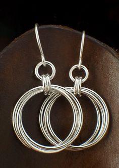 Medium Sterling Silver Earrings 19mm Hoops by unkamengifts on Etsy, $25.00