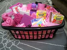 High School Graduation gift basket for my niece Kierra. A few things to prepare her for dorm life!