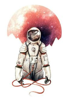 Astronaut Illustration Print by CaitlinRussellArt Astronaut Illustration, Space Illustration, Astronaut Wallpaper, Major Tom, Art Plastique, Interstellar, Cosmos, Amazing Art, Designer