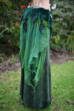 Nuno Filz geschmolzen Pixie Woodland Nymphe Fairy Blatt Seide Waldgürtel OOAK: