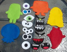 Monster Game Toy Felt Game Busy Book Quiet Felt Board 5 via etsy Felt Board Stories, Felt Stories, Flannel Board Stories, Juegos Baby Shower Niño, Projects For Kids, Crafts For Kids, Felt Games, Quiet Book Patterns, Felt Board Patterns