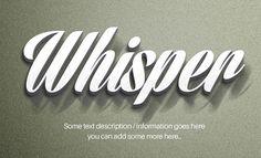 Whisper-II-Text-Effect