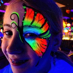 Neon or glow in the dark face paint is great for kids of all ages! Our bright face painting designs will impress ALL of your guests!