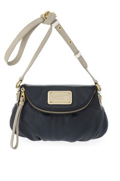 Marc by Marc Jacobs Classic Q Colorblocked Mini Natasha in Black Tracker  Tan  PF14Sale b6c75e391ed