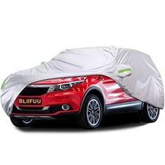 XCAR Delux Streth Car Cover Red Length 200 Water Repellent and Breathable Sedan Cover