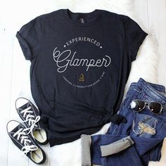 Wanderlust camping shirt - Glamping is camping. But, roughing it? Camping ladies' t-shirt by Plaid Oak Outfitters Camping Style, Family Camping, Tent Camping, Camping Gear, Camping Hacks, Camping Equipment, Camping Storage, Women Camping, Camping Activities