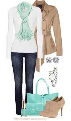"""""""Pastel, Beige, and Denim"""" by casuality on Polyvore"""
