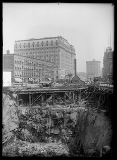Excavation for the New York Times Building, Times Square, New York City, 1902.New-York Historical Society, Robert L. Bracklow Photograph Collection