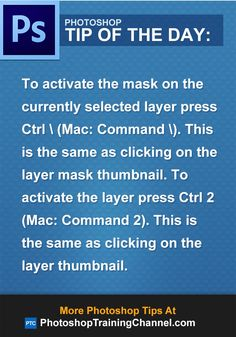 To activate the mask on the currently selected layer press Ctrl (Mac: Command )…