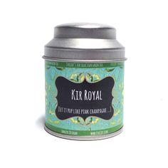 Kir Royal [Let it pop like pink champagne....]  Een waar genot! Lemongrass en cassis geven deze thee een frisse en tegelijkertijd fruitige smaak met een licht Champagne karakter.