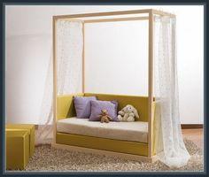 Canopy Design, Bed Design, Wood Canopy Bed, Kids Wood, Toddler Bed, Interior Design, Furniture, Home Decor, Child Bed