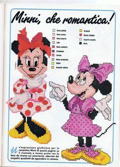 Minnie che romantica a punto croce - magiedifilo.it punto croce uncinetto schemi gratis hobby creativi