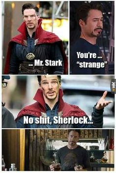 """This makes me way hapier than it should. They so need to have a """"Sherlock"""" refer… - Marvel Fan Arts and Memes Avengers Humor, Marvel Avengers, Marvel Jokes, Funny Marvel Memes, Dc Memes, Marvel Dc Comics, Marvel Heroes, Funny Memes, Silly Jokes"""
